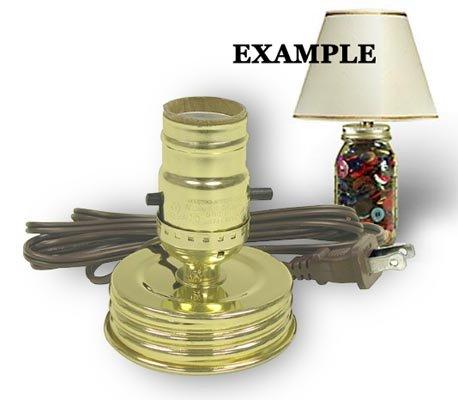 Mason Jar Lamp Kit converts a Standard Mason Jar Into an Instant Lamp (Pkg. Of 3)