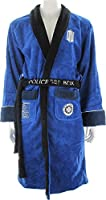 Doctor Who Embroidered Tardis Blue Fleece (One Size Fits Most) Unisex Robe