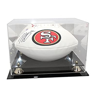 Patrick Willis Autographed San Francisco 49ers White Panel Football - JSA Certified Authentic - Display Case and Name Plate Included