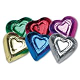 Rainbow Milk Chocolate Hearts