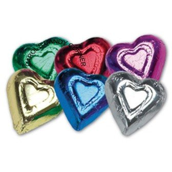 Rainbow Milk Chocolate Hearts (Milk Chocolate Hearts compare prices)