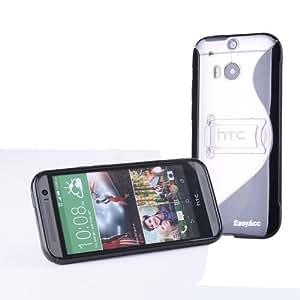 EasyAcc TPU Schutzhülle mit Standfunktion/Shock Absorption für HTC One M8 schwarz