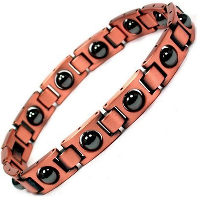 MPS Copper Magnetic Therapy Bracelet for men with clasp and Acupressure Balls Magnets