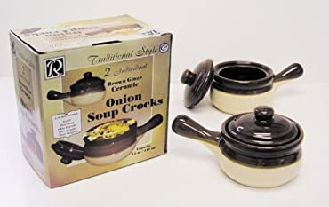 Traditional onion soup bowls are exceptionally functional, and offer a great presentation for your soup.  Oven and dishwasher safe make for easy preparation and clean up