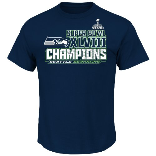 NFL Super Bowl Champion Seattle Seahawks Champion Choice VI Tee, Large at Amazon.com