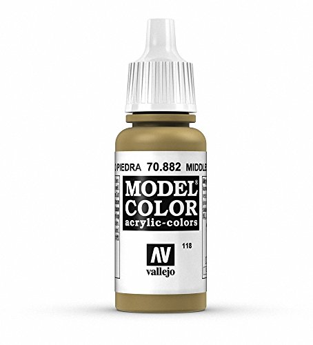 Vallejo Middle Stone Model Color Paint, 17ml