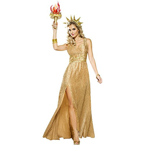 Golden Lady Liberty Adult Costume