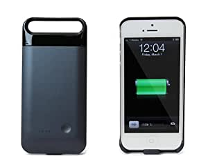 MOTA Protective iPhone 5 Battery Case - Black Cover on Dark Gray- (2000 mAh) Works on AT&T, T-Mobile, Sprint, Verizon Wireless iPhone 5 With Lightning Connector Integrated