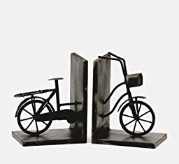 Iron Bicycle Bookends Set