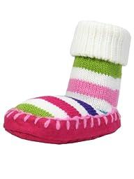 Baby Infant Girls Rainbow Stripe Slipper Socks by Goldbug - Multi-colored - 6-12 Mths