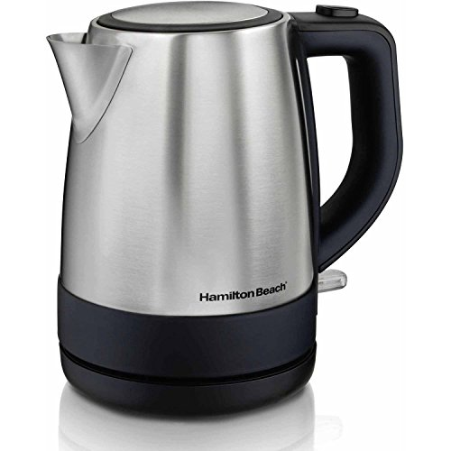 Hamilton Beach 1 L Stainless Steel Electric Kettle, Auto shutoff and Easy-pour spout
