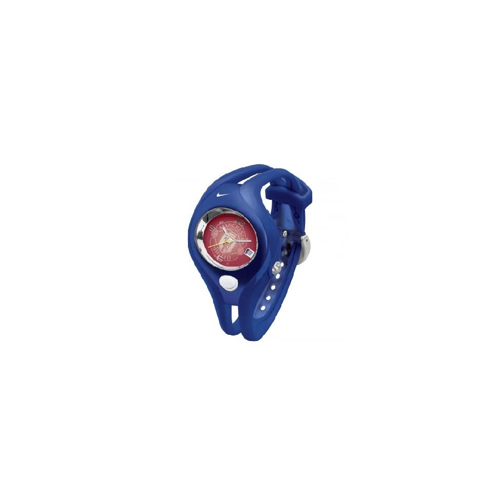 9ac449fbd1e9 Nike Triax Swift Analog Manchester United Club Team Watch Royal Red WD0049  407