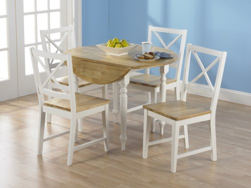 tms 5 piece virginia dining set white collections