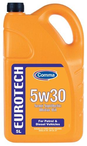 Comma Eut5l 5l Eurotech Semi Synthetic 5w30 Motor Oil By