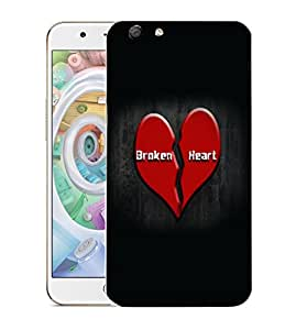 Snoogg Broken Heart Designer Protective Back Case Cover For OPPO F1S