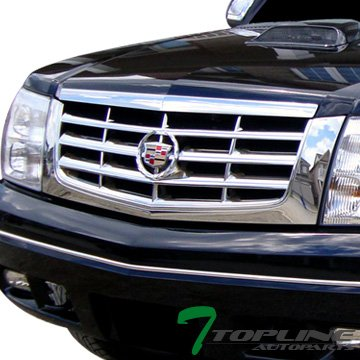 Topline Autopart Factory Front Bumper Grill Grille Badge Emblem Wreath 2P 02-06 Cadillac Escalade (Escalade Grill compare prices)