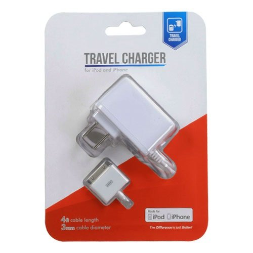 Cell Accessories For Less (Tm) Apple Iphone 4S/4 White Travel Charger For Ipod And Iphone + Bundle (Stylus & Micro Cleaning Cloth) - By Thetargetbuys
