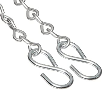 """Dixon CH-SS-24 Stainless Steel Cam and Groove Hose Fitting, Jack Chain with S-Hook, 24"""" Length"""