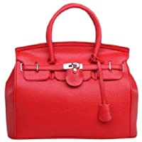 HotEnergy Girl Faux Leather Handbag Tote Shoulder Bags Career Purse (red) from YiWu YaRui E-Business Co., Ltd