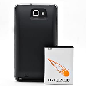Hyperion Samsung Galaxy Note 5000mAh Extended Battery + Back Cover (Not Compatible with AT&T Galaxy Note. Compatible ONLY with International Galaxy Note Models (N7000 and GT-i9220))