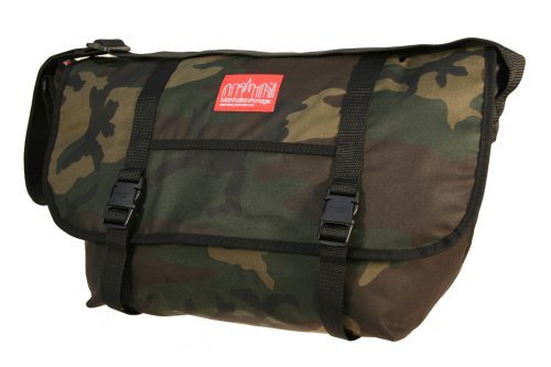 Manhattan Portage Large Waxed Canvas Messenger Bag (Camo)