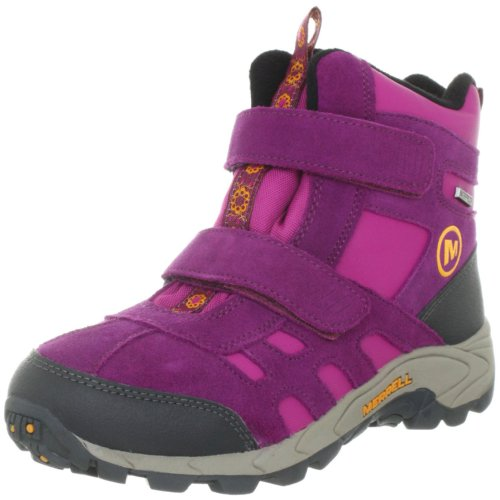 Merrell Moab Polar Mid Strap Waterproof Boot (Toddler/Little Kid/Big Kid),Purple Potion,1 M US Little Kid