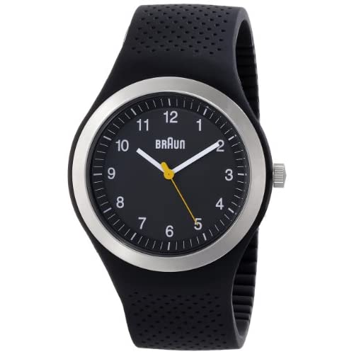 Braun-Mens-Quartz-Watch-with-Black-Dial-Analogue-Display-and-Black-Silicone-Str