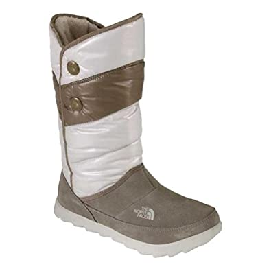 Ladies The North Face White Thermoball Pull-On Bootie by The North Face