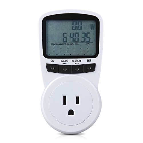 Electricity Usage Monitor, LONRIC Digital Electric Plug Power Meter KWH Watt Volt Amps Energy Meter