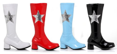 Girls Gogo Boots With Star - Red