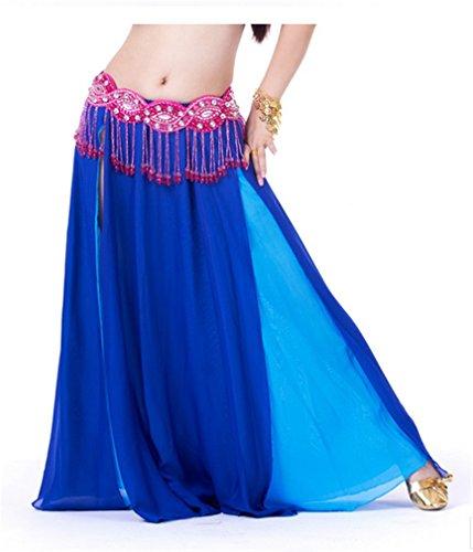 Dreamspell 2014 Dark Blue Chiffon Long Skirt HOT Belly Dance Skirt