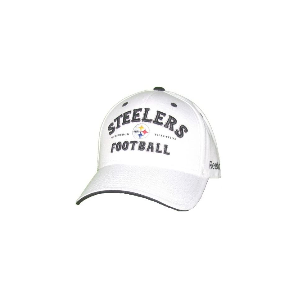Mens Pittsburgh Steelers White Structured Tradition Adjustable Cap ... 7c0685046