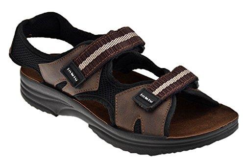 In Blu Ry18 Velcro Sandali Nuovo Tg 42 Scarpe Uomo