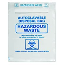 Heathrow Scientific HD1002B Polypropylene Autoclavable Disposal Bag, 600mm Length x 415mm Width (Pack of 200)