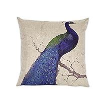 MIOIM Animal Vintage Linen Cotton Cushion Pillow Cases Cover Sofa Home Car Decor