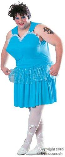 Funny Adult Men's Ballerina Drag Queen Costume (Size: Standard 44)
