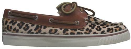 Sperry Women's Bahama Boat Shoe Leopard Pony Size 8