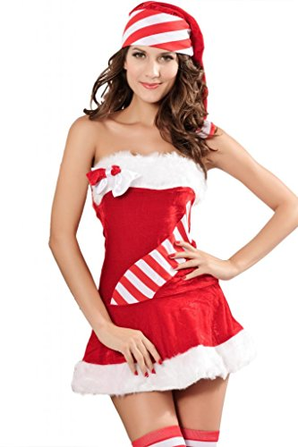 Chase Secret Women's Chiristmas Candy Cane Costume
