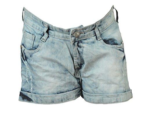 Zedx Solid Women's Lightblue Denim Shorts