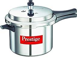 Prestige Popular Aluminium Pressure Cooker, 5 Liters