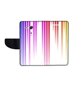 KolorEdge Printed Flip Cover For Sony Xperia SP Multicolor - (45KeMLogo11799XperiaSP)
