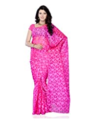 Party Wear Light Pink Net Jacquard Dyed Embroidered Saree