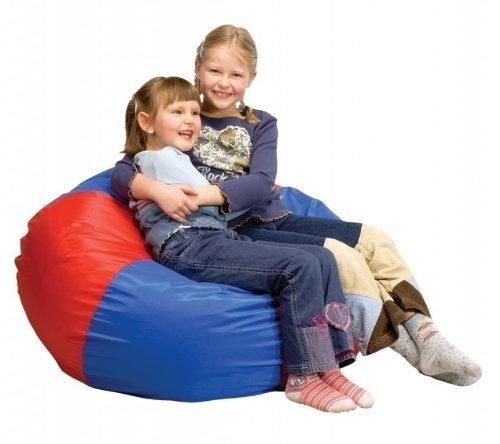 Knautsch- und Sitzsack Victoria, rot-blau – Höhe: 86 cm günstig online kaufen