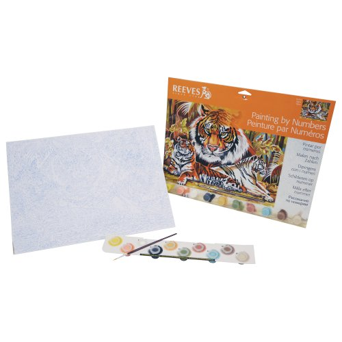 Reeves Tigers Acrylic Painting Set by Numbers, Large