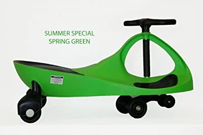 KMS157301SPGR Kids Motor Store Spring Green Rolling Coaster Wiggling Race Car Premium Scooter