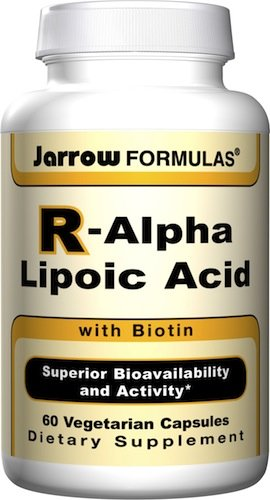 Jarrow Formulas R-Alpha Lipoic Acid with Biotin, 60 Vegetarian Capsules