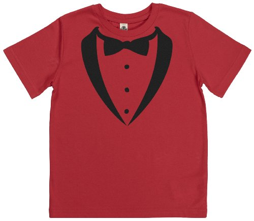 Phunky Buddha - Dinner Tuxedo Kids T-Shirt 7-8 Yrs - Red front-795249