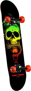 Powell-Peralta Blacklight Skull and Snake Complete Skateboard, Red from Powell-Peralta
