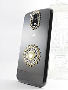 Kiintymys Handcrafted Designer Bling 3D Single Silver Elegance Acrylic Case For Lenovo K6 Note