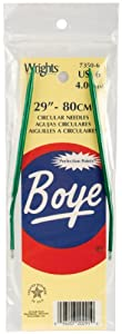 Boye Circular Aluminum 29-Inch Knitting Needles, 6/4mm